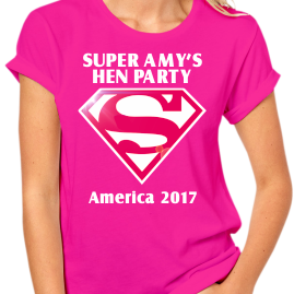 SuperGirl Hen Party Design